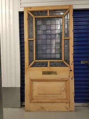 Original Victorian Stained Glass Interior Vestibule Door 80000