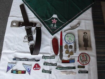 Guide's Badges Japan Scarf -Patches-Whistle-Belt-And Not Sure Etc