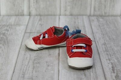 SEE KAI RUN Shoes- Toddler Size 6-12 months -Red white-Pre Owned ... cc6eb6caa