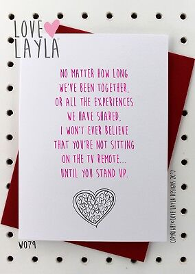 Greetings Card Christmas Card / Comedy / Funny / Humour / Love Layla Aust / X79