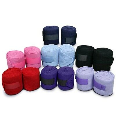 Elico Travel and Stable Bandages - Pair - Baby Blue, Lilac, Black