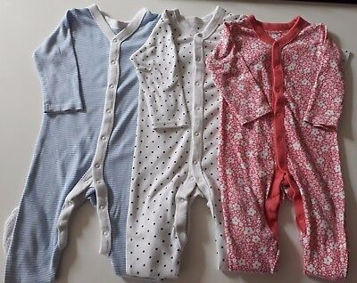 NEXT Pack of 3 Babygrows - Baby Girl - 12-18 Months