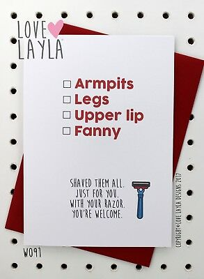 Greetings Card Christmas Card / Comedy / Funny / Humour / Love Layla Aust / X91