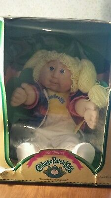 1986? Cabbage Patch Kid BlONDE BLUE EYED DIMPLES Teeth MILDRED FAYE