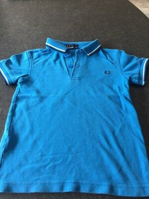 Fred Perry Boys Polo Top Size 6-7 Years