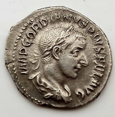 Silver Gordian III, AR Denarius, Summer 241, Special Marriage Issue Coin