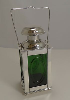 Vintage Novelty Swedish Silver Plated and Glass Decanter - Ship's Lantern