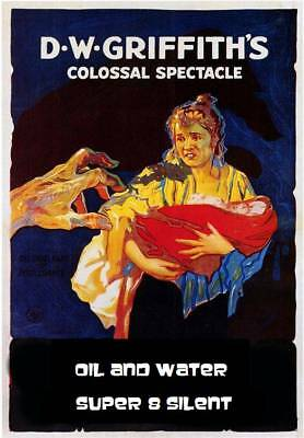 Oil And Water 1913 Classic D.w.griffith Silent Drama Very-Rare-B/w-Super-8 400Ft