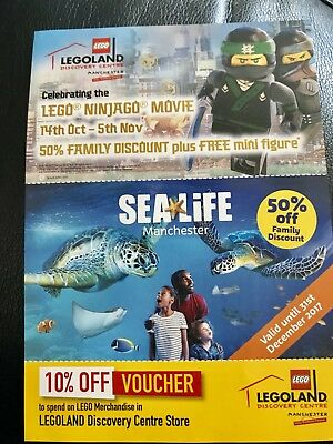 Legoland Ticket 1/2 50% Price Entry Voucher Discount 5 People Sealife Manchester