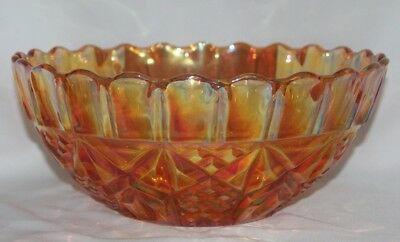 Vintage amber Carnival glass large dishdish
