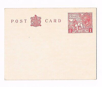 1924 Penny Wembley postal stationery item, as seen, unused, in nice condition