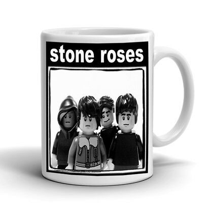 Stone Roses Ian Brown, John Squire Lego 10Oz White Mug And Coaster Set