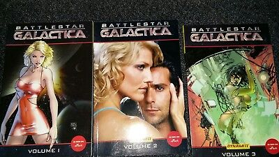 battlestar galactica graphic novels. volume 1, 2 and 3.