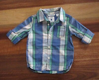 RRP $44.95 New Baby Boy Size 0 (6-12 Months) COUNTRY ROAD Long Sleeve Shirt