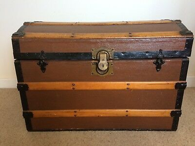 Antique Seaman's Domed Travel Trunk / Chest