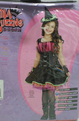 Girls Rockin Out Witch Halloween Costume Size Small 4-6 by Rubies FREE tights