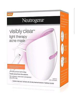 New Neutrogena Visibly Clear Light Therapy Acne Mask Clinically Proven Free Post