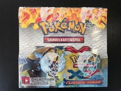 Pokemon XY Flammenmeer Flashfire Display Display Booster Box deutsch OVP!