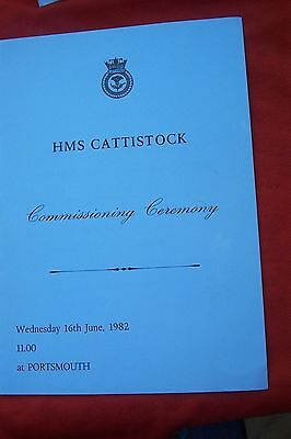 Hms Cattistock Ship Commissioning Ceremony 1982 Portsmouth  Booklet
