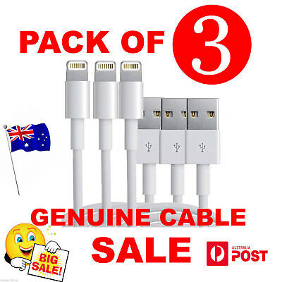 3X Genuine Apple Lightning Data Cable Charger for iPhone 7 7 Plus 6 5S 5C 6 iPad