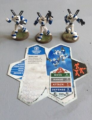Heroscape Omnicron Snipers - Malliddon's Prophecy Wave 1