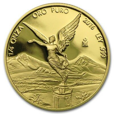 2016 Mexican Libertad 1/4 oz Gold coin Proof!!!