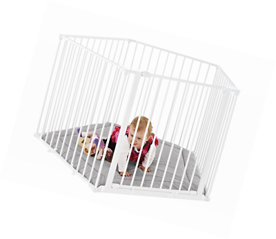 Baby Playpen Room Divider & Baby Play Mat - White - Free Delivery