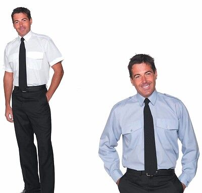 Men's Pilot Shirts White And Pale Blue From Db2  - Style 1556/9 A/b