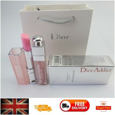 Dior Addict Lip Experts Duo Lip Glow Color Awakening Balm & Maximizer Gift Set