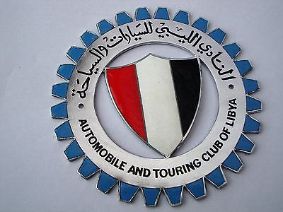 Enamel car badges from The Automobile and Touring Club of Libya