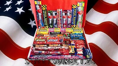 American Sweets Gift Box - 50 Items Usa Candy Hamper