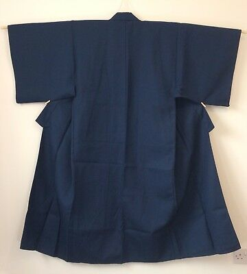 Authentic Japanese blue dotera for men, M, house padded kimono, good c. (G1753)