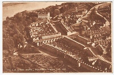 PENARTH - J A Gibbs Children's Home - Aerial View - c1920s era vintage postcard
