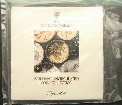 UK Elizabeth II 1989 Uncirculated Coin Set Mint Sealed Ideal Year of Birth Gift