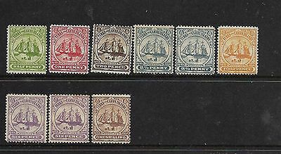 Turks and Caicos Islands 1900 Mint Stamps CV £31