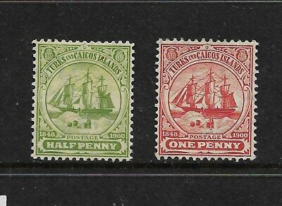 Turks and Caicos Islands 1905 Mint Stamps CV £24