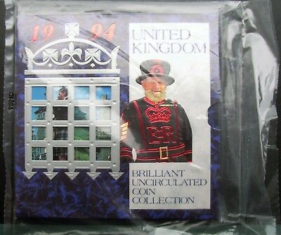 UK Elizabeth II 1994 Uncirculated Coin Set Mint Sealed. Ideal Year of Birth Gift