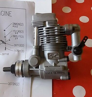 SC 30 four stroke rc engine Brand New in Box with silencer. Not OS, ASP, Saito