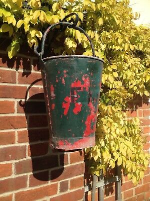 Vintage Fire Bucket-Garden Hanging Planter-Pre-drilled-strong construction!