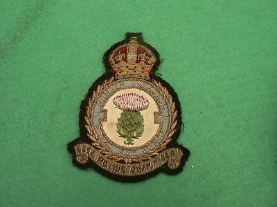 Military WW2 Officers Canadian RAF  Patch Badge Bomber Command  1943 Scottish