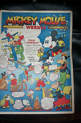 1936 DISNEY SERIES ORIGINAL MICKEY MOUSE PLATINUM COMIC Vol 2 Oct16th 1937 No 89