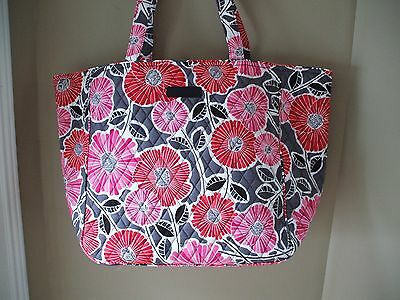 a815d4d217 Vera Bradley Grand Tote Extra Large 2.0 Cheery Blossoms Beach Office Travel  NWTS