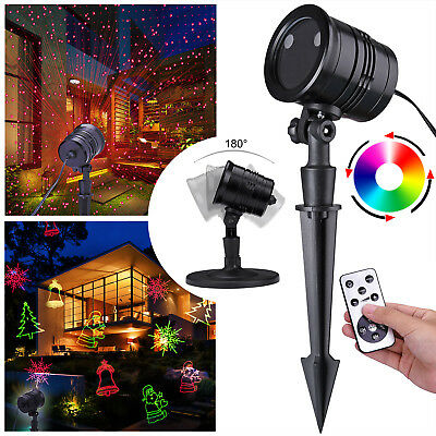 rgb 20 muster projektor led laser licht gartenlicht wasserdicht weihnachten deko eur 26 19. Black Bedroom Furniture Sets. Home Design Ideas