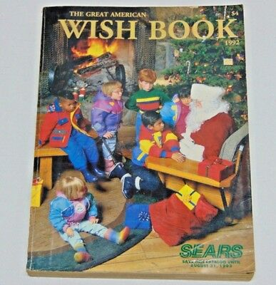 1992 Sears Wish Book Catalog Christmas Vintage