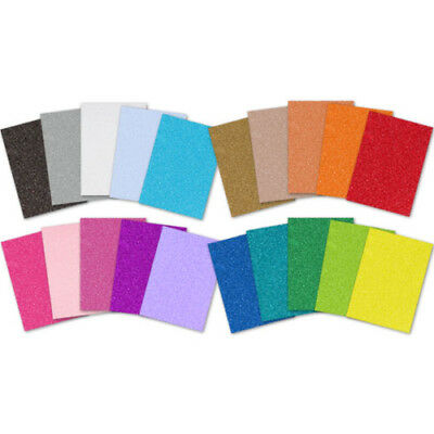 Glitter Card A4 Sheets 220gsm - 20 Colours | Buy any 4 sheets, get the 5th FREE!