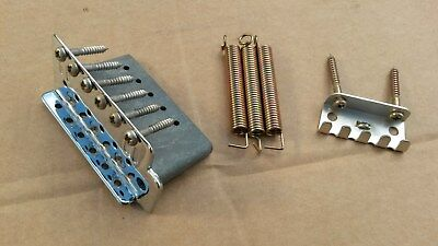 Strat type electric guitar Tremelo Bridge block, screws, springs + claw