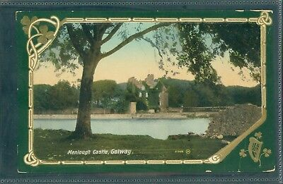 Menlough Castle, Galway. Printed C.1910.