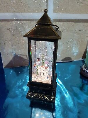Brass effect Christmas scene lantern