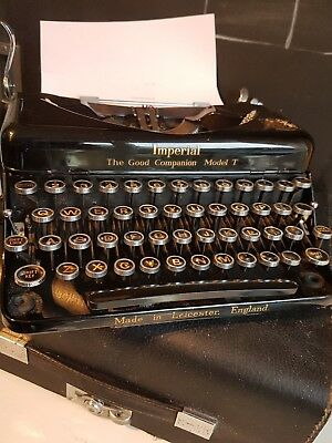 vintage imperial typewriter the good companion model t super condition