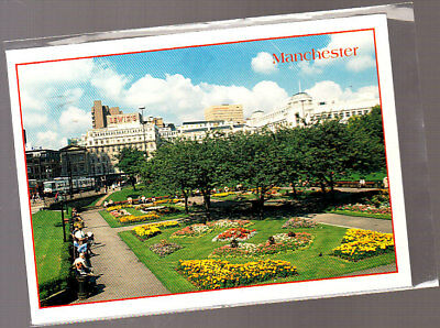 Unused  Postcard, Manchester. Piccadilly Gardens